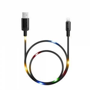 MCDODO SOUND ACTIVATED LED LIGHTNING CHARGE AND SYNC LEAD 1M