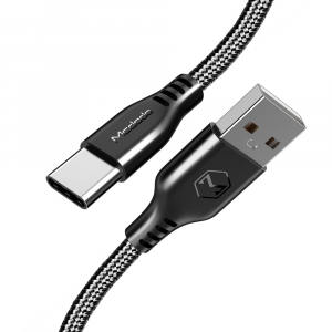 MCDODO TOUGH USB TYPE-C TO USB CHARGE SYNC LEAD - 20cM