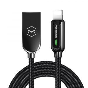 MCDODO HEAVY DUTY LIGHTNING TO USB AUTO-DISCONNECT USB CHARGE LEAD - 1.2M
