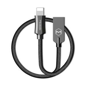 MCDODO KNIGHT SERIES APPLE LIGHTNING TO USB NYLON BRAIDED LEAD - 1.2M