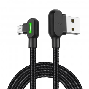 MCDODO NYLON TOUGH RIGHT ANGLE MICRO-USB TO RIGHT ANGLE USB LEAD -1.8M