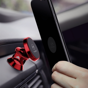 MCDODO CAR MAGNETIC SWIVEL DASH MOUNT PHONE HOLDER - RED