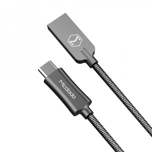 MCDODO KNIGHT SERIES TYPE-C TO USB NYLON BRAIDED LEAD - 1M