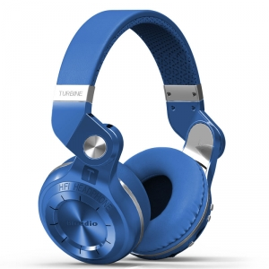 BLUEDIO WIRELESS BLUETOOTH HEADPHONES WITH ROTATING EARS - BLUE