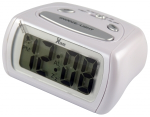 PORTABLE BATTERY POWERED ALARM CLOCK