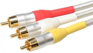 WHITE PEARL 3 RCA COMPOSITE LEAD - 1.5M