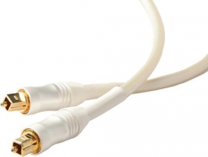 WHITE PEARL OPTICAL FIBRE LEAD - 1M