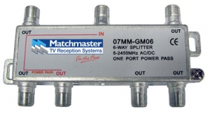 MATCHMASTER 6 WAY SPLITTER