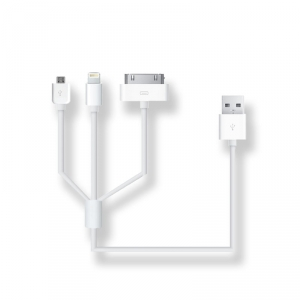 SANSAI 3-IN-1 USB CHARGING CABLE - 50CM