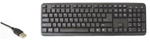 COMPUTER KEYBOARD USB - BLACK