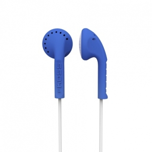 KOSS IN-EAR STEREO HEADPHONES - BLUE