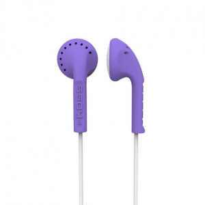 KOSS IN-EAR STEREO HEADPHONES - VIOLET