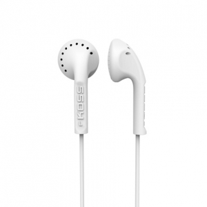 KOSS IN-EAR STEREO HEADPHONES - WHITE