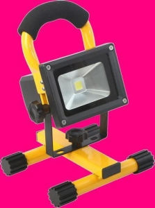 10W LED RECHARGEABLE FLOODLIGHT IP65 - C/WH