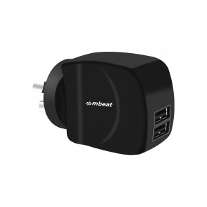 MBEAT DUAL PORT 3.4 AMP USB AC SMART CHARGER