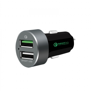 MBEAT QC QUICK CHARGE 2.0 & SMART USB CAR CHARGER