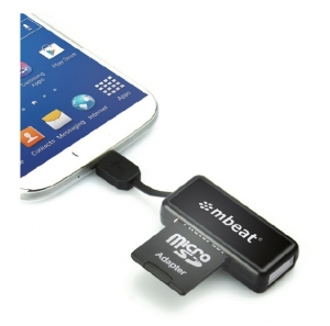 MBEAT OTG MICRO USB CARD READER FOR ANDROID PHONES AND TABLETS