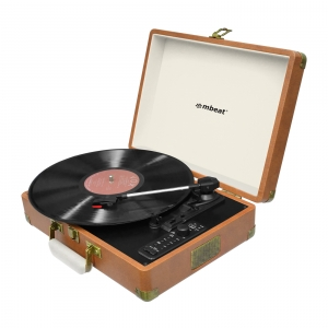 MBEAT RETRO BLUETOOTH USB RECORDER TURNTABLE