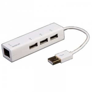 PROLINK 3 PORT USB 2.0 HUB WITH ETHERNET