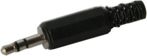 3.5MM STEREO PLUG - BLACK