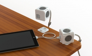 POWERCUBE 1.5M MAINS EXTENSION WITH 4 OUTLETS AND 2 USB SOCKETS