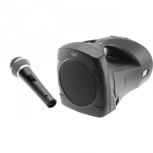 PORTABLE SOUND SYSTEM W/ WIRED MICROPHONE