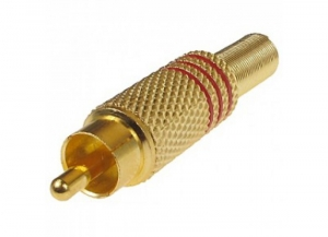 GOLD RCA PLUG - RED