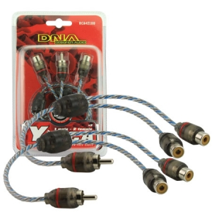 DNA 1M-2F RCA PROSPEC Y SPLITTER AUDIO LEAD-22cm