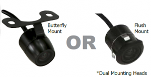 DNA CMOS REVERSE CAMERA BUTTERFLY & FLUSH MOUNT - PAL/NTSC