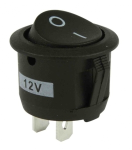 DNA 12VDC ON/OFF ROCKER SWITCH ROUND MOUNT