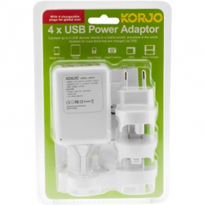 KORJO INTERNATIONAL AC CHARGER W/ 4 USB SOCKETS