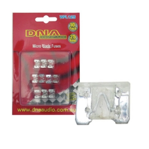 DNA LOW PROFILE BLADE FUSES 25A - 10 PACK