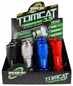 TOMCAT 9 LED METAL POCKET TORCH INCL. BATTERIES