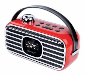 RETRO BLUETOOTH SPEAKER WITH ALARM CLOCK