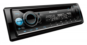 PIONEER 1DIN CD AV RECEIVER WITH DUAL BLUETOOTH, USB, AUX