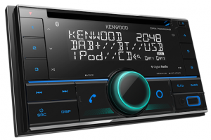 KENWOOD DOUBLE DIN USB/CD/DAB+ RECEIVER WITH BLUETOOTH