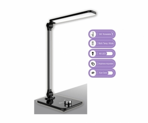 SANSAI 8W AC LED DESK LAMP WITH ADJUSTABLE BRIGHTNESS