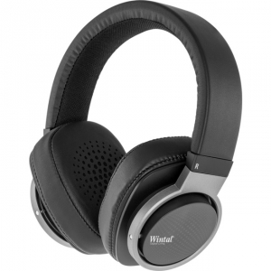WINTAL ON-EAR WIRED STEREO HEADPHONES - BLACK