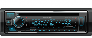 KENWOOD 1DIN CD/DAB+/USB AV RECEIVER WITH BLUETOOTH
