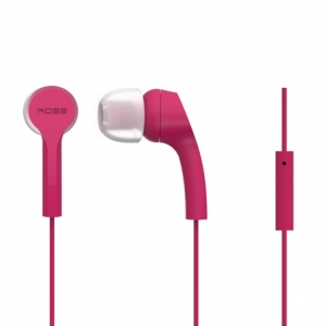 KOSS NOISE ISOLATING IN-EAR EARPHONES WITH MICROPHONE - PINK