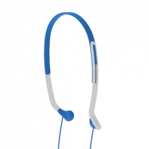 KOSS HEADBAND LIGHTWEIGHT SIDE FIRING FITNESS HEADPHONES - BLUE