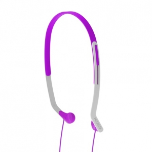 KOSS HEADBAND LIGHTWEIGHT SIDE FIRING FITNESS HEADPHONES - VIOLET
