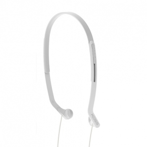 KOSS HEADBAND LIGHTWEIGHT SIDE FIRING FITNESS HEADPHONES - WHITE