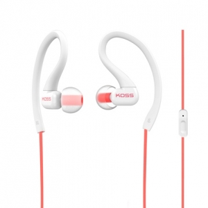 KOSS IN-EAR FITCLIP FITNESS EARPHONES WITH MICROPHONE - CORAL