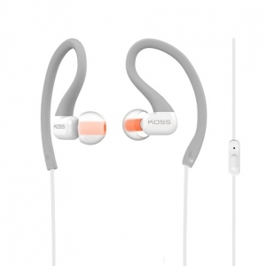 KOSS IN-EAR FITCLIP FITNESS EARPHONES WITH MICROPHONE - GREY