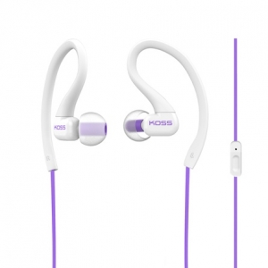 KOSS IN-EAR FITCLIP FITNESS EARPHONES WITH MICROPHONE - VIOLET