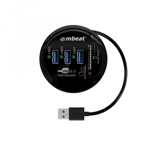 MBEAT 2-IN-1 USB3.0 HUB AND CARD READER COMBO