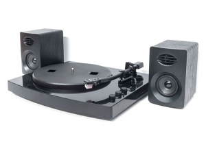 MBEAT PRO-M BLUETOOTH TURNTABLE AND STEREO SPEAKER PACK - BLACK