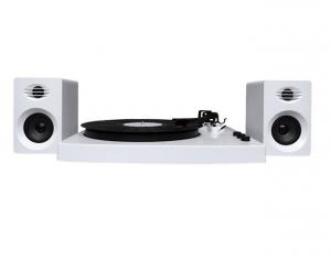 MBEAT PRO-M BLUETOOTH TURNTABLE AND STEREO SPEAKER PACK - WHITE