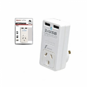 SANSAI DUAL USB CHARGER WITH SURGE PROTECTION